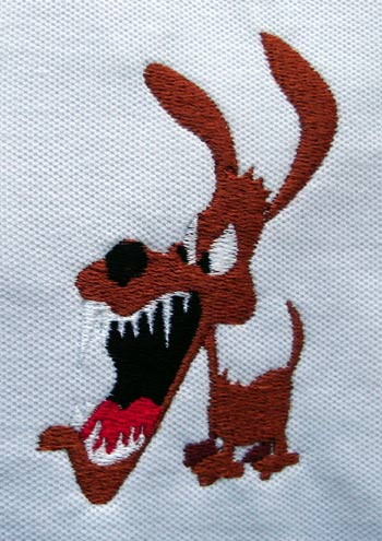 Limping Dog Designs : Dog Embroidery Design